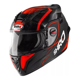 Casco Moto Integral Shiro Sh-821 Rojo Y Negro - Spagna