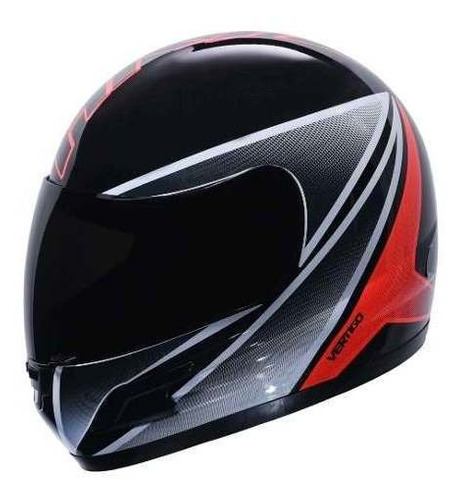 casco moto integral vertigo hk7 brillo cuotas.  en gravedadx