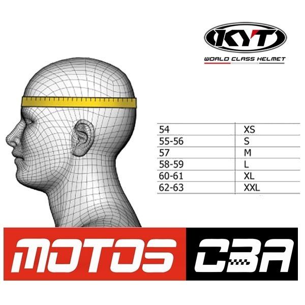 1c1abdd5 Casco Moto Kyt Sv Negro Brillo Visor Interno Sol Motoscba - $ 3.990 ...