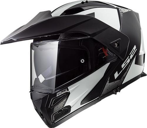 casco moto ls2 324 metro evo sub blanco cuotas devotobikes