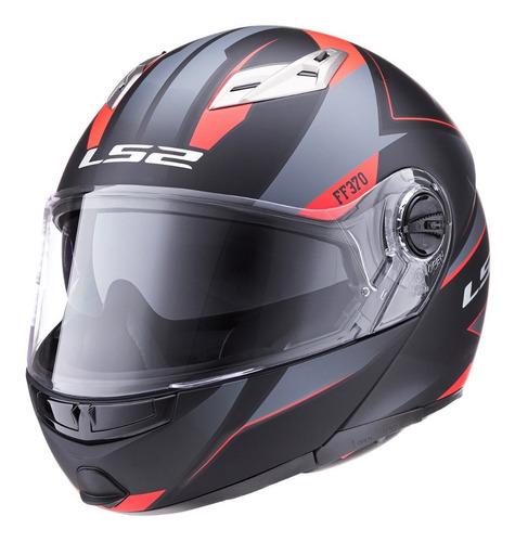 casco moto ls2 370 easy stripe rebatible mate devotobikes