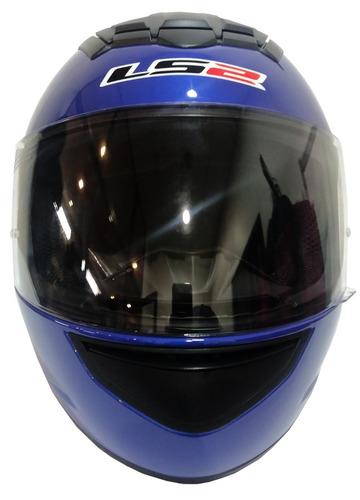 casco moto ls2 ff351 mono azul