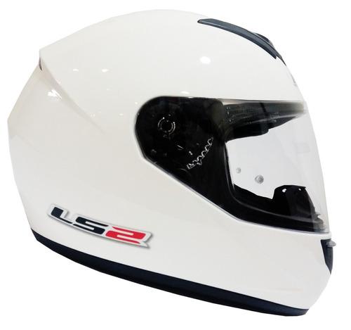 casco moto ls2 ff351 mono blanco