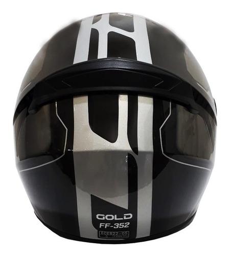 casco moto ls2 ff352 gold negro gris plata