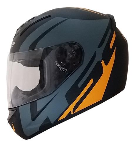 casco moto ls2 ff352 touring negro gris naranja matte