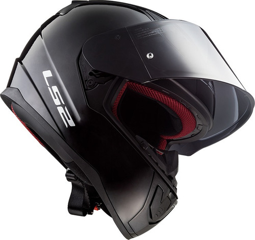 casco moto ls2 ff353 rapid solid negro brillante