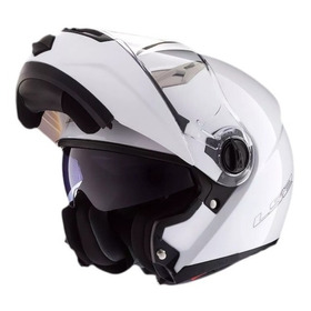 Casco Moto Ls2 Ff370 Abatible Blanco Brillante