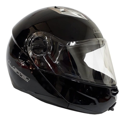 casco moto ls2 ff370 abatible negro brillante