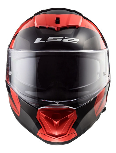 casco moto ls2 ff390 breaker physics negro rojo