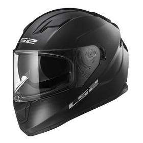 Casco Moto Ls2 Integral 320 Evo Negro Brillo Doble Visor