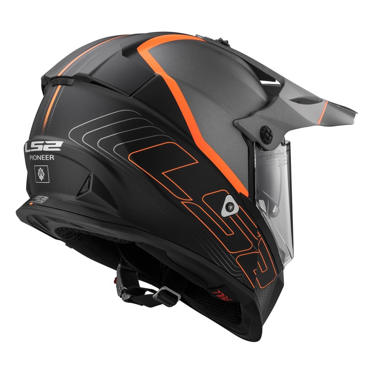 c2c8ff9f1f8 casco moto ls2 mx436 pioneer element matt black titanium. Cargando zoom.