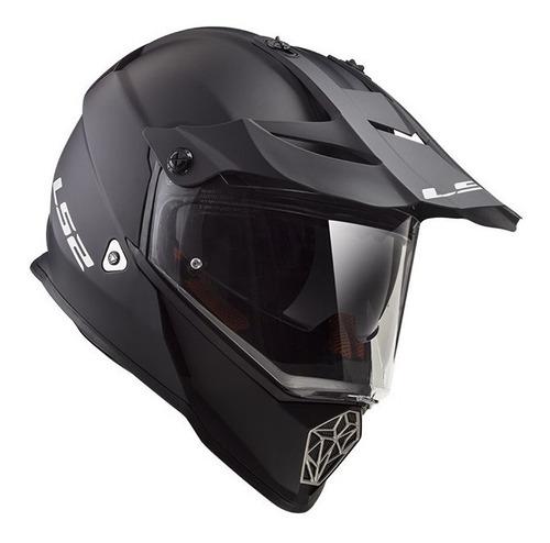 casco moto ls2 mx436 pioneer negro matte