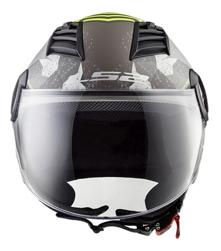 casco moto ls2 of562 airflow camo titanio