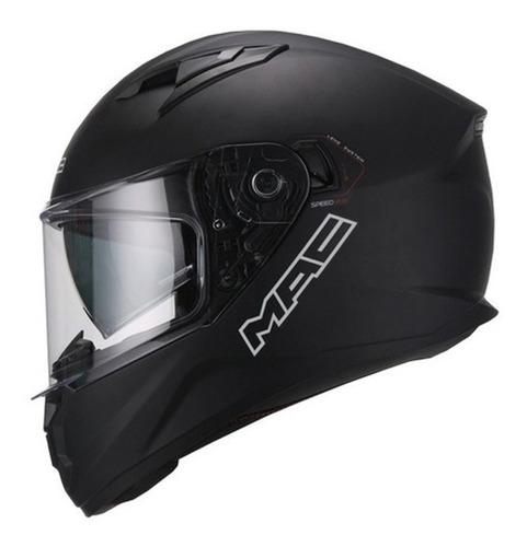 casco moto mac speed 2.0 negro mate doble visor devotobikes
