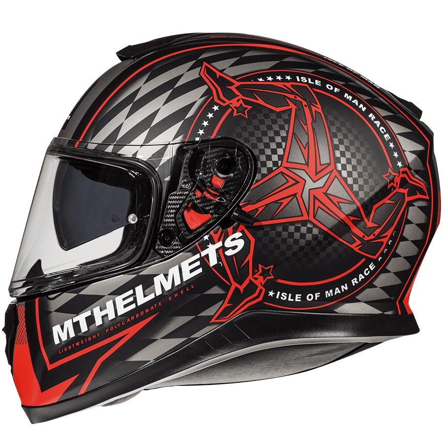 1e26a2b7 Casco Moto Mt Thunder Isle Of Man Rojo Mate Doble Visor - $ 4.992,00 ...