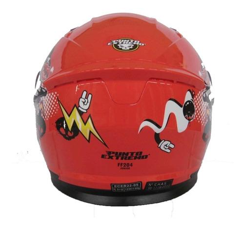 casco moto niño niñas punto extremo importado solomototeam