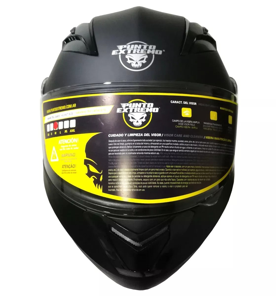 01ffd33802737 Casco Moto Punto Extremo Rebatible Xr650 -   3.990