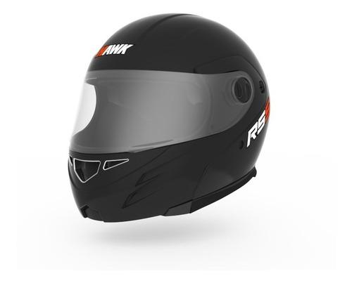 casco moto rebatible hawk rs5 negro mate modular devotobikes