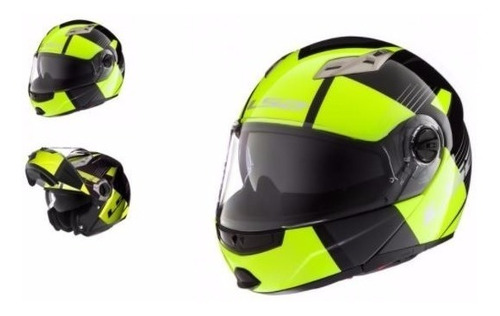 casco moto rebatible ls2 370 easy milan yellow devotobikes