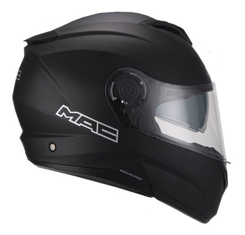 casco moto rebatible mac rock solid negro mate devotobikes