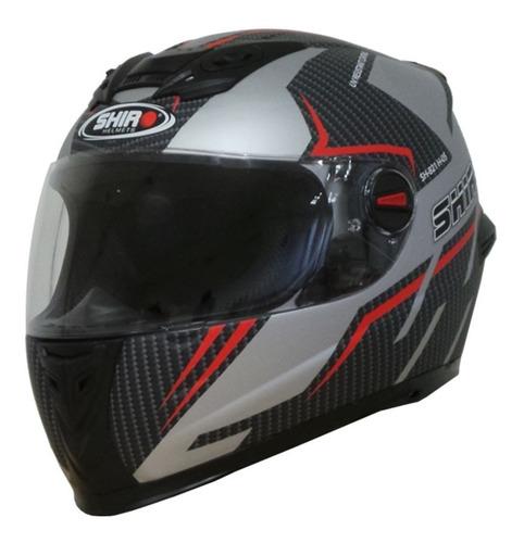 casco moto shiro sh-821 advance 2 plata mate