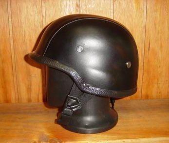 casco moto tipo americano en cuero - oferta stock limitado