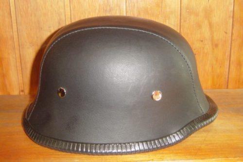 casco moto tipo polo en cuero - oferta stock limitado