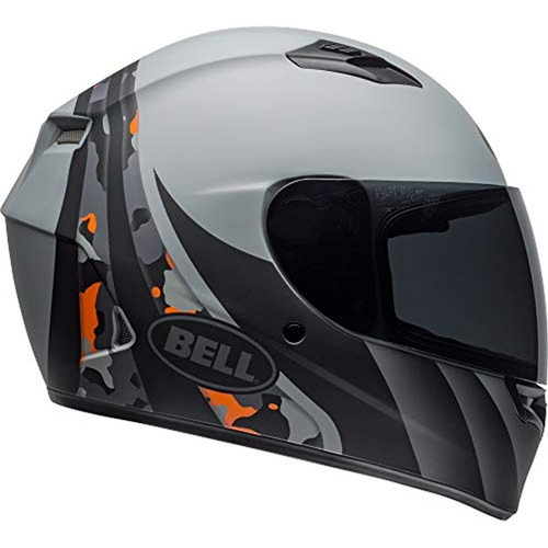 casco motocicleta integridad mate gris naranja camuflaje xxl