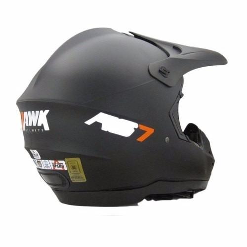 82f4d3434a87f Casco Motocross Enduro Hawk Rs7 Negro Mate-motoweb -   1.185