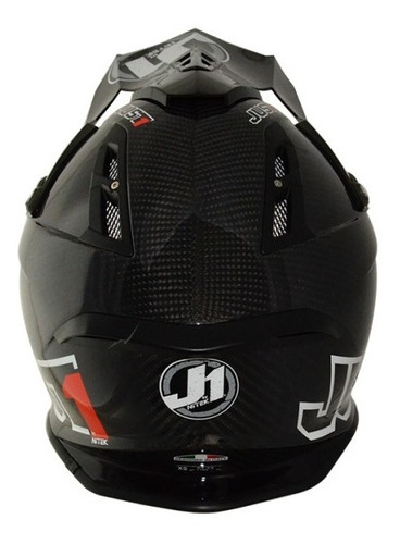casco motocross enduro just1 j12 carbon solido
