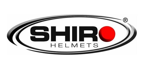 casco motocross shiro mx 912 carbono azul- brm