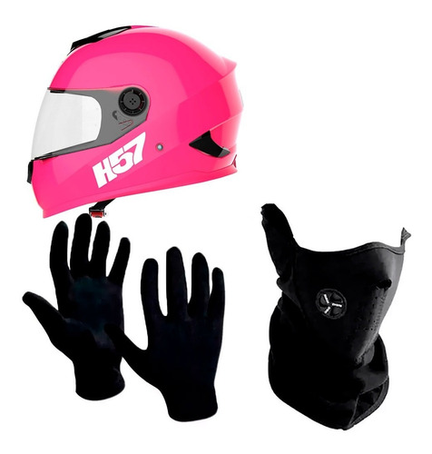 casco motos integral halcon h57 + cuello + guantes sti full