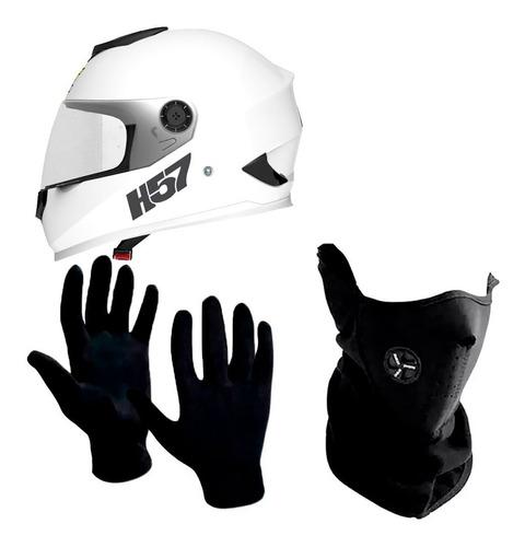 casco motos integral halcon h57 + cuello + guantes sti full