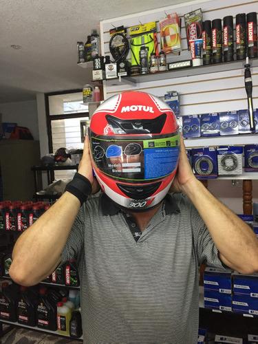 casco motul r7 racing cerrado dot moto