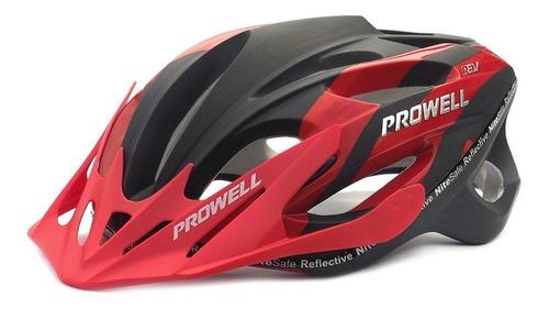 casco mountain bike prowell ¡super ventilado ajustable! f59r