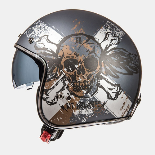 casco mt helmets hardcore antracite griss mate
