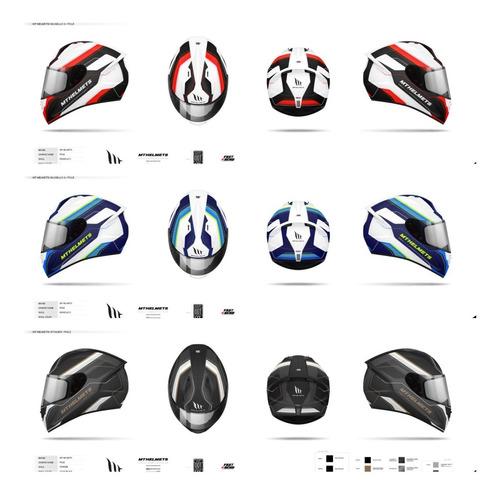 casco mt para moto / mt helmets stinger / pole dorado