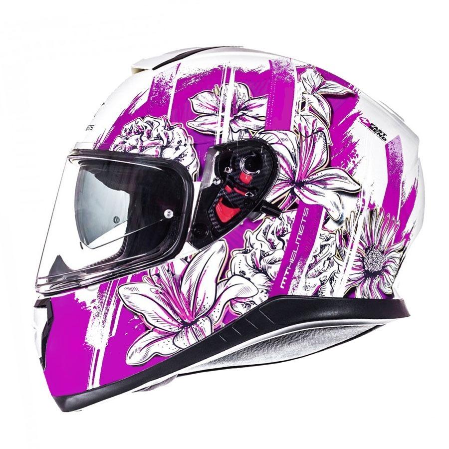7115d2914e0d2 Casco Mt Thunder 3 Sv Wild Garden Rosa Doble Visor Fas Motos ...