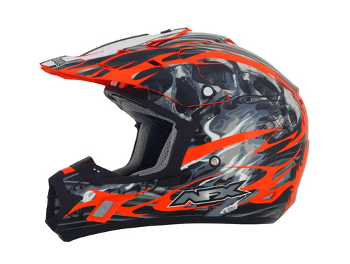 casco mx todoterreno afx fx-17 inferno naranja md