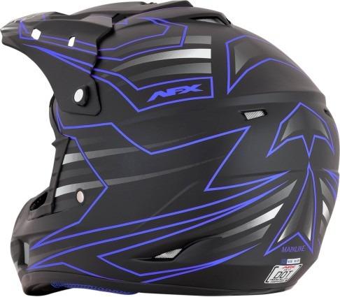 casco mx/todoterreno afx fx-17 mainline azul/negro 2xl