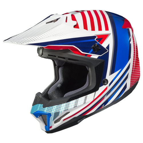 casco mx/todoterreno hjc cl-x7 hero rojo/blanco/azul lg