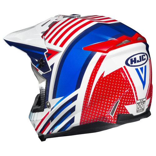 casco mx/todoterreno hjc cl-x7 hero rojo/blanco/azul xs