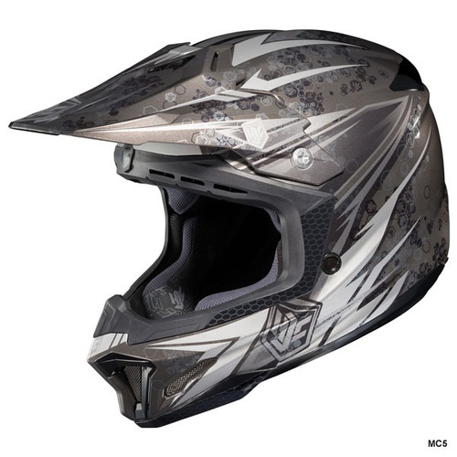 casco mx/todoterreno hjc cl-x7 pop n lock negro/plateado sm