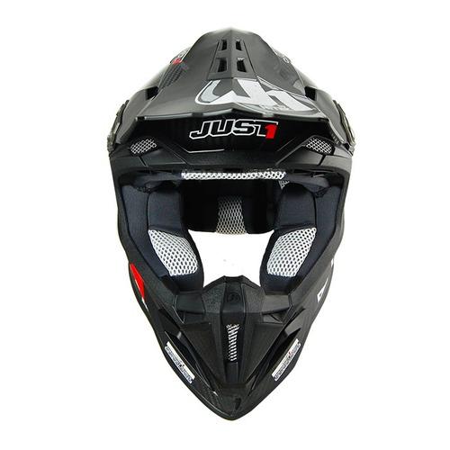 casco mx/todoterreno just 1 j12 carbono negro lg