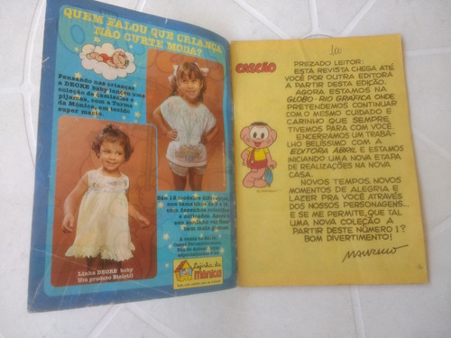 cascão - nº 1 - editora globo - 1987