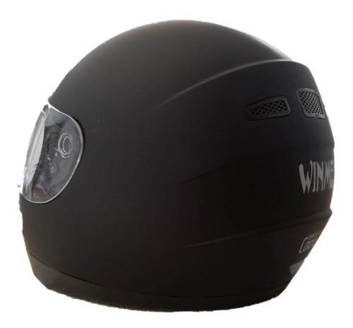 casco negro mate integral  cerrado doble certificado dot ece
