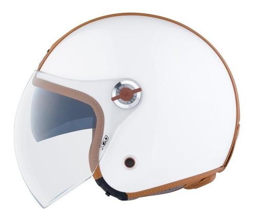 casco nexx x70 groovy blanco/camel carbono + kevlar + vidrio