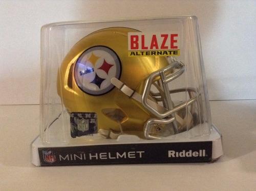 casco nfl mini helmets riddell blaze pittsburgh steelers