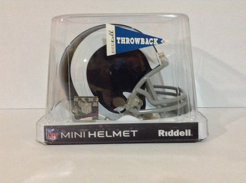 casco nfl mini helmets riddell throwback  los ángeles rams