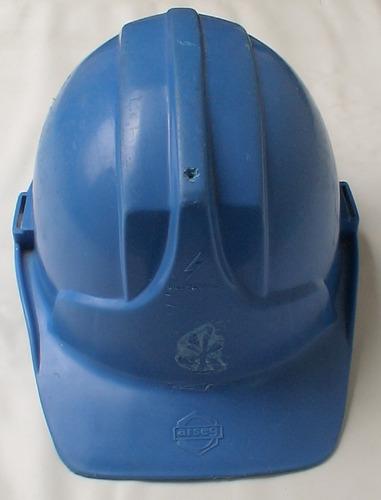 casco obra seguridad industrial araña soporte arseg azul x 4